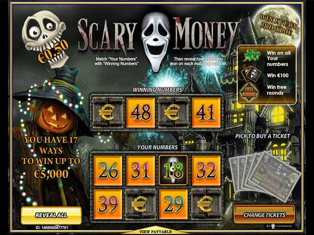 Kolikkopelit Scary Money, Yggdrasil Gaming SS - Toripelit.com