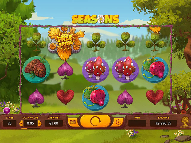 Kolikkopelit Seasons, Yggdrasil Gaming SS - Toripelit.com