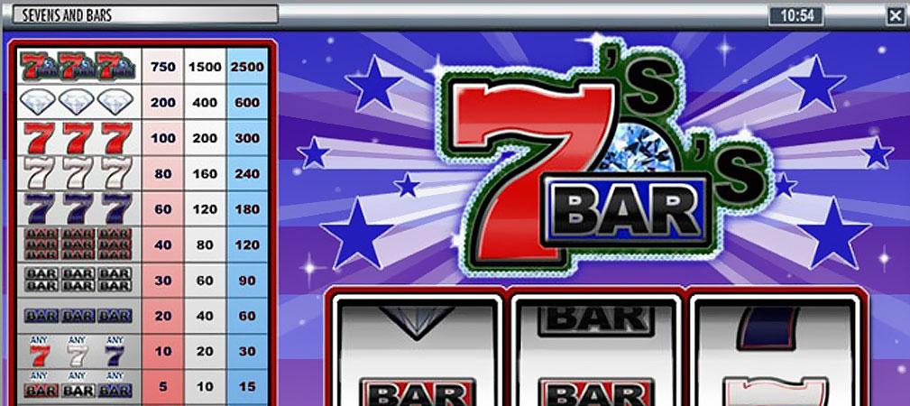 Kolikkopelit Sevens and Bars, Rival Slider - Toripelit.com
