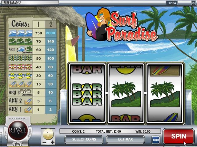 Kolikkopelit Surf Paradise, Rival SS - Toripelit.com