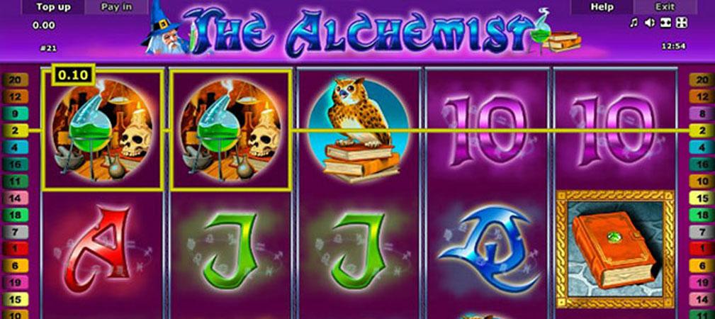 Kolikkopelit The Alchemist, Novomatic Slider - Toripelit.com