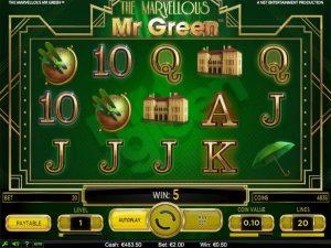 Kolikkopelit The Marvellous Mr Green, NetEnt SS - Toripelit.com