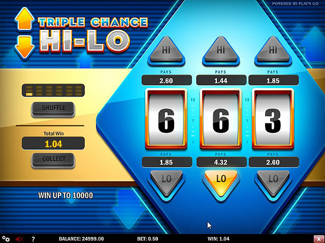 Kolikkopelit Triple Chance HiLo, Play'n GO SS - Toripelit.com