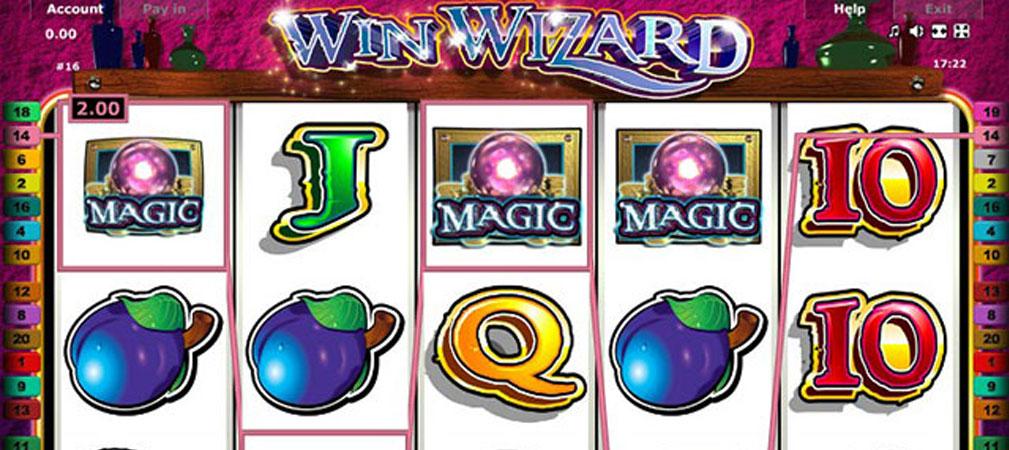 Kolikkopelit Win Wizard, Novomatic Slider - Toripelit.com