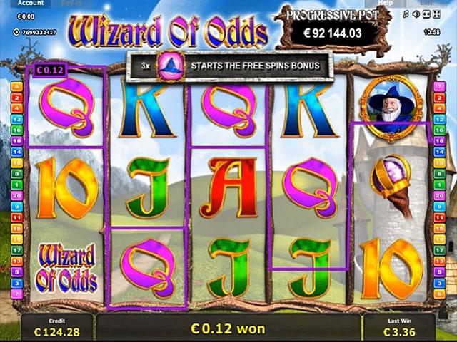 Kolikkopelit Wizard of Odds, Novomatic SS - Toripelit.com