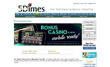 5Dimes casino Arvostelu kuvakaappaus  toripelit.com 4