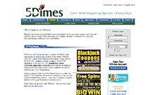 5Dimes casino Arvostelu kuvakaappaus  toripelit.com 2