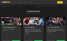 Betfinal casino Arvostelu kuvakaappaus  toripelit.com 2