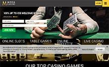 Mega Casino casino Arvostelu kuvakaappaus  toripelit.com 1