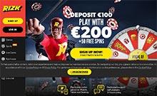 Rizk casino Arvostelu kuvakaappaus  toripelit.com 2
