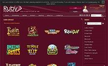 Ruby Fortune casino Arvostelu kuvakaappaus  toripelit.com 1