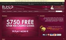 Ruby Fortune casino Arvostelu kuvakaappaus  toripelit.com 2