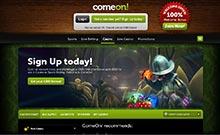 ComeOn casino Arvostelu kuvakaappaus  toripelit.com 3