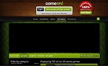 ComeOn casino Arvostelu kuvakaappaus  toripelit.com 4