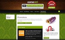 ComeOn casino Arvostelu kuvakaappaus  toripelit.com 1