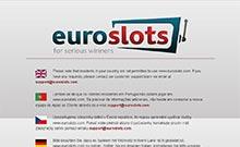 EuroSlots casino Arvostelu kuvakaappaus  toripelit.com 1