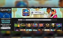 Spinson casino Arvostelu kuvakaappaus  toripelit.com 2