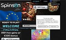 Spinson casino Arvostelu kuvakaappaus  toripelit.com 1